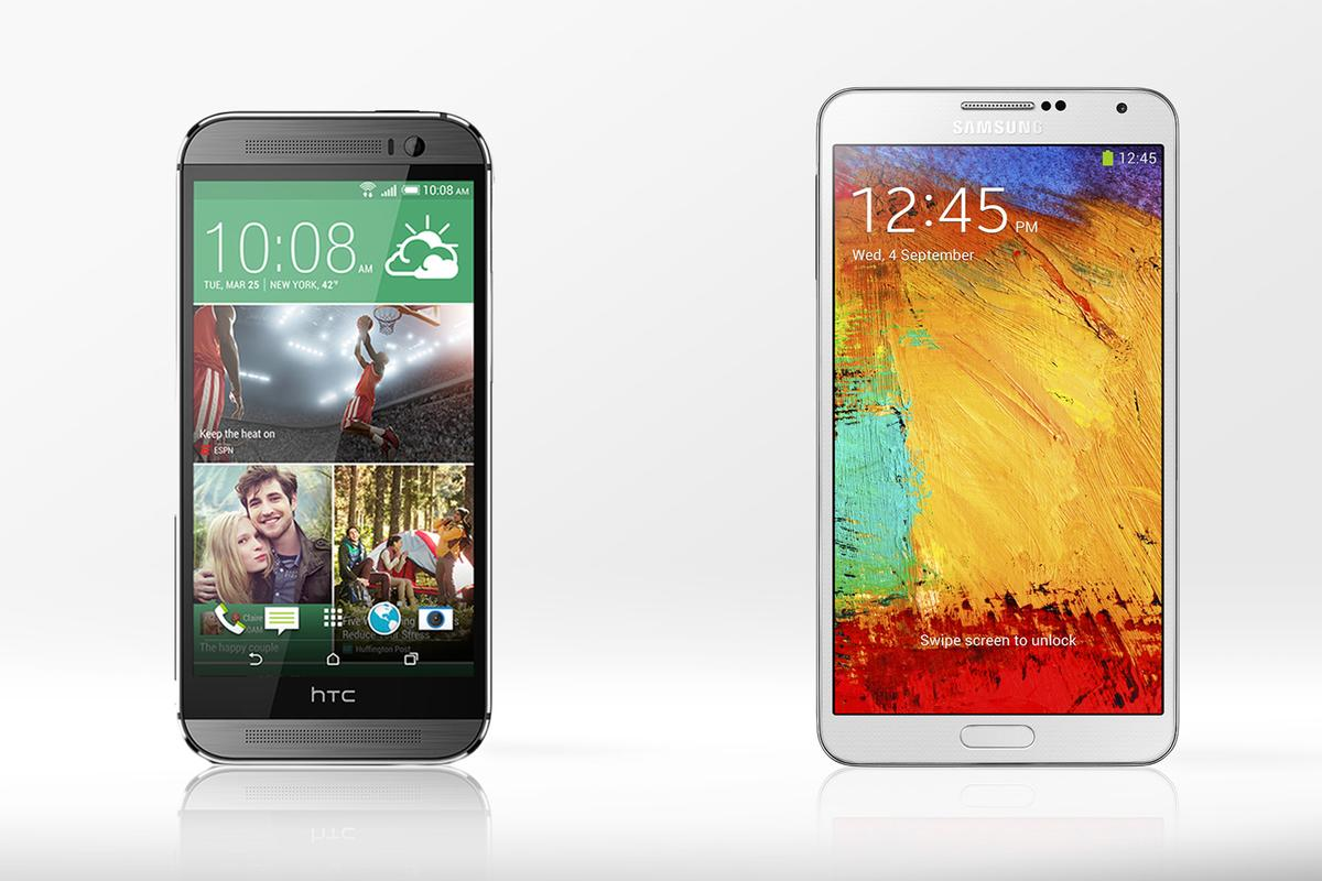 Gizmag compares the features and specs of the HTC One (M8) and Samsung Galaxy Note 3