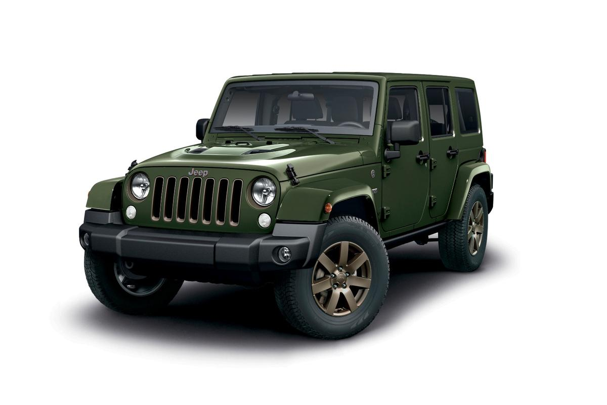 The Wrangler 75th Anniversary is based on the Overland model, but has a number additions and differences