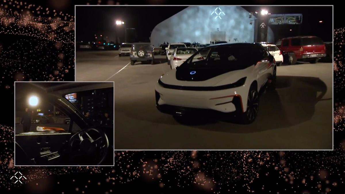 Faraday Future's FF91: signature glowing disc on the hood is the 3D Lidar sensor