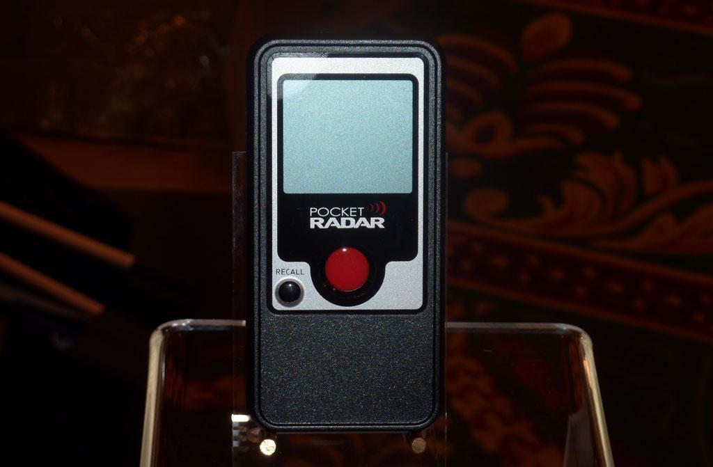PocketRadar's mini speed radar.