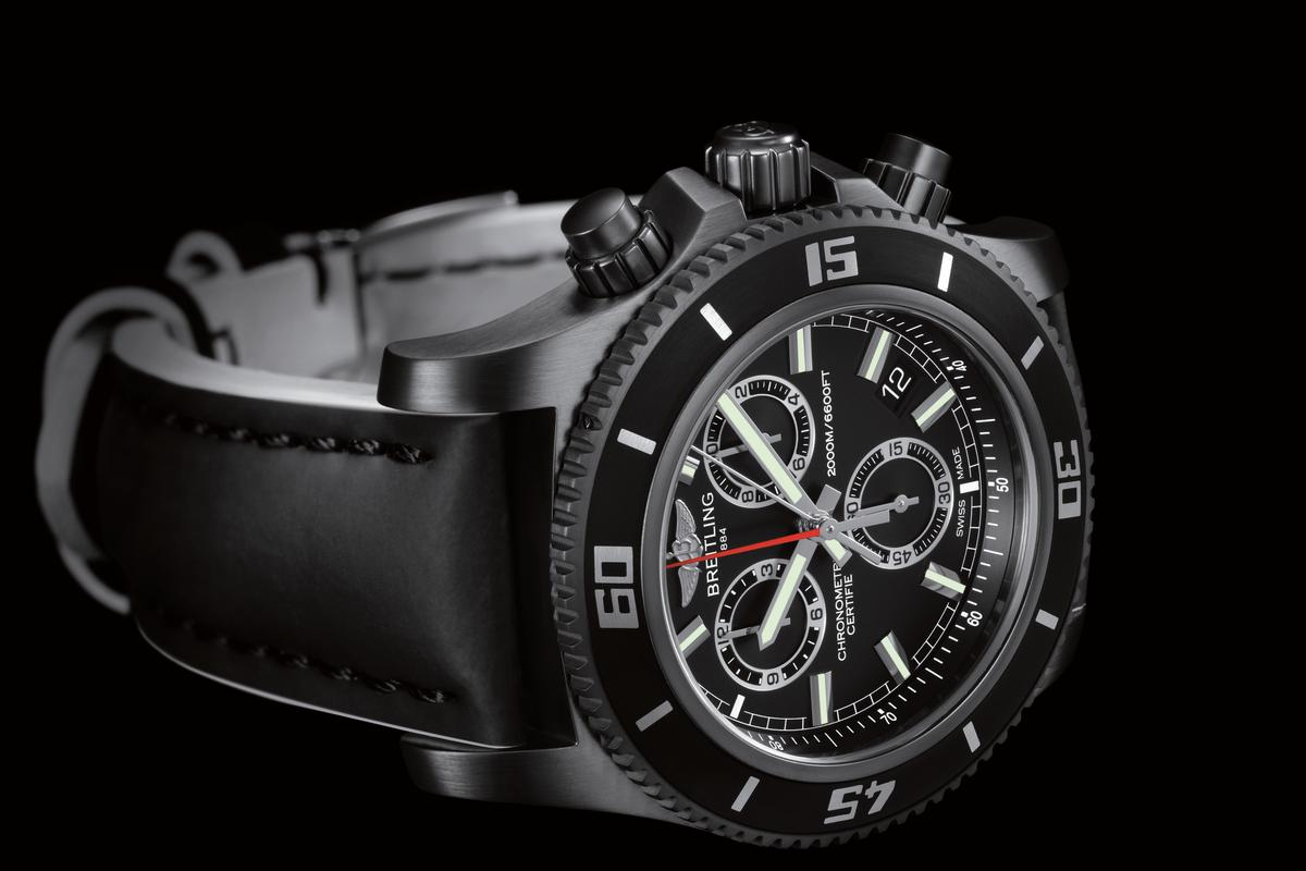 The Superocean M2000 Chronograph is rated to 2,000 m (6,600 ft)