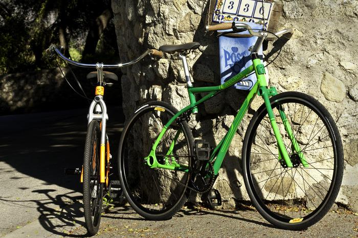 ReCycle bicycles are made from recycled aluminum, and have several distinctive design features