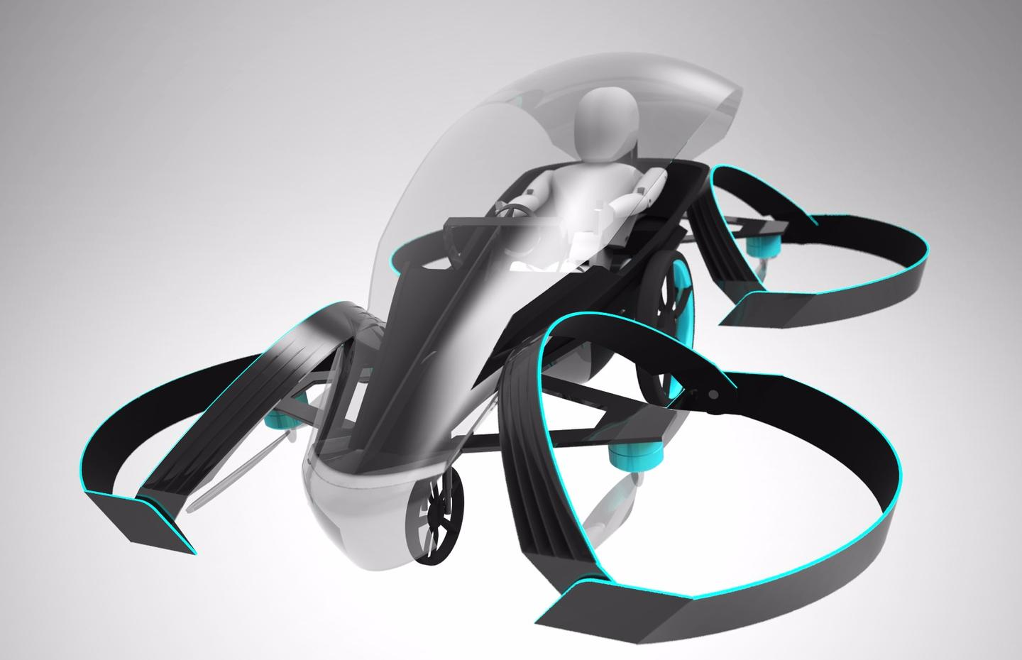 Toyota-backed SkyDrive is a single seat quadcopter-based flying car