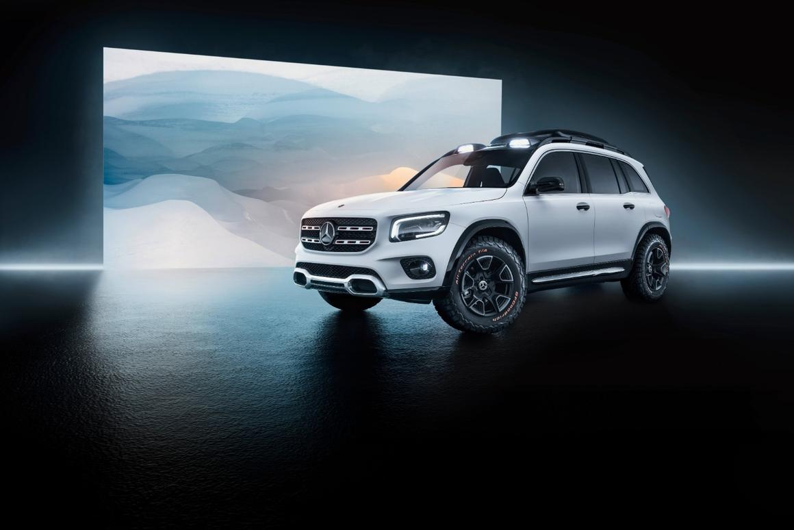 The GLB would fit between the smaller GLA- and the larger GLC-Class