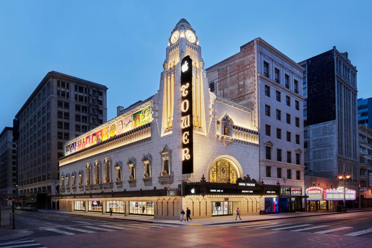 Apple Tower Theatre is located in Downtown Lost Angeles and originally opened in the 1920s