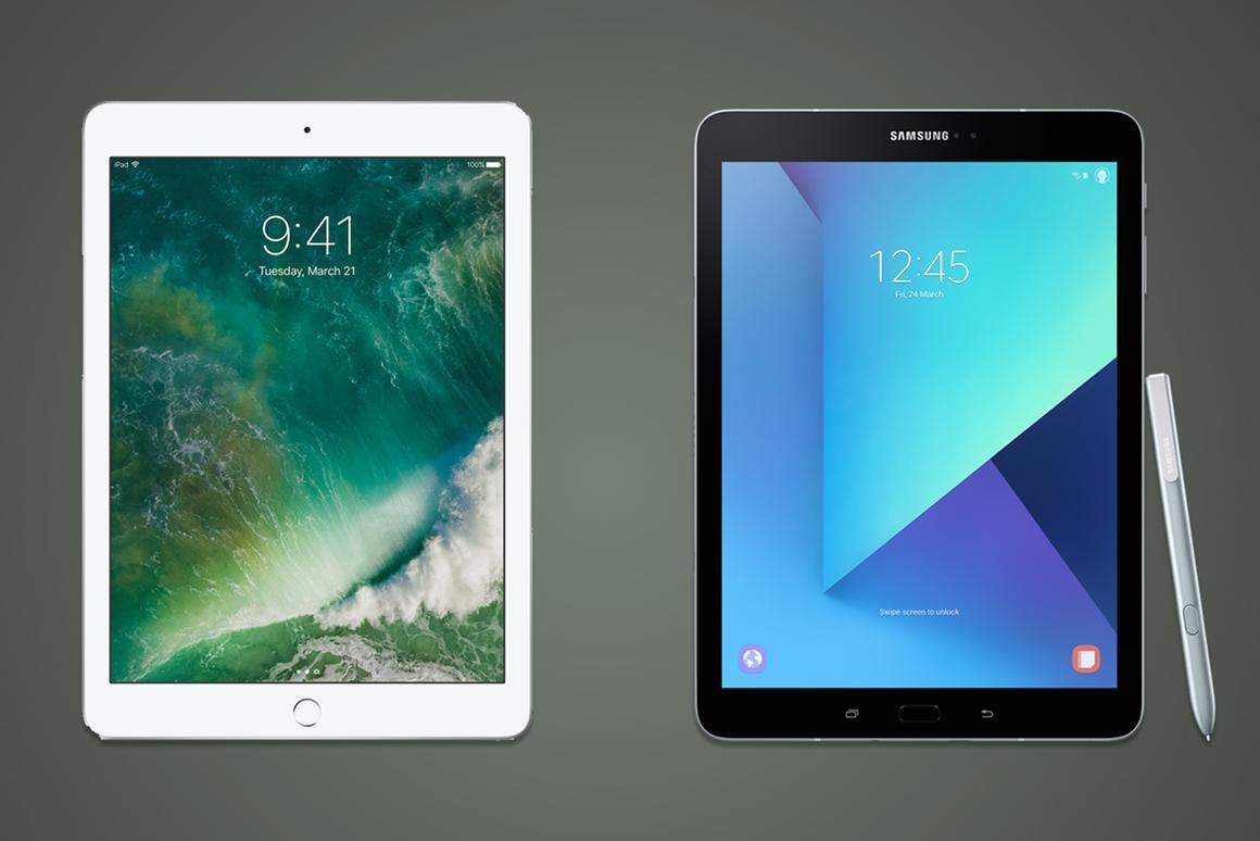 Apple iPad (2017) vs  Samsung Galaxy Tab S3