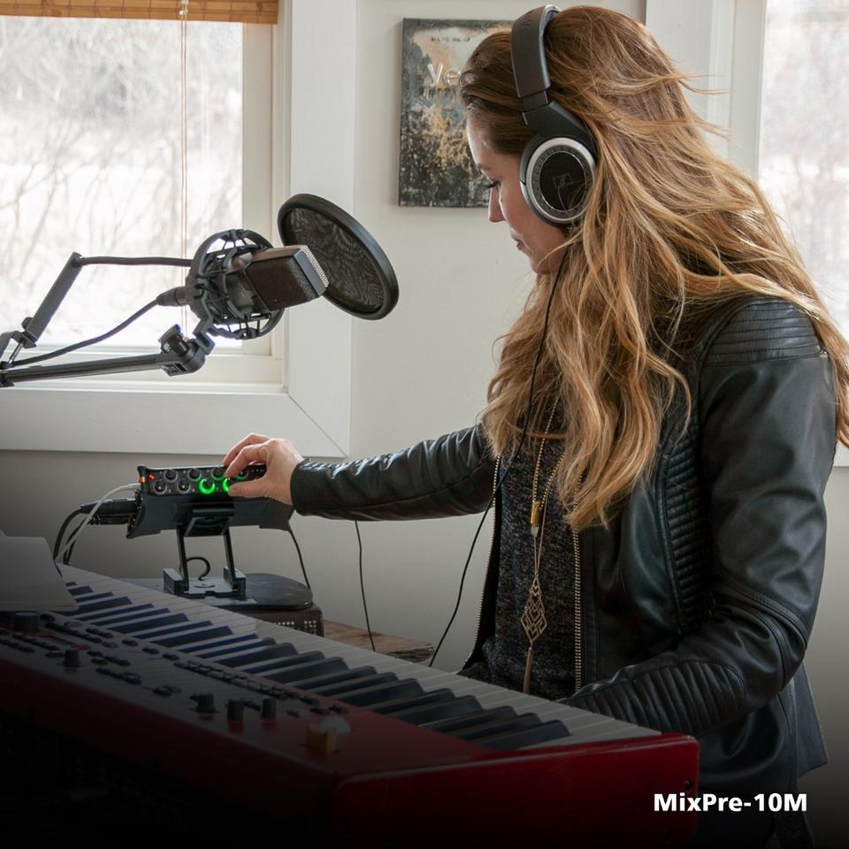 The MixPre-10Mportable studio features all the essentials you'll find in a DAW (Digital Audio Workstation) suite