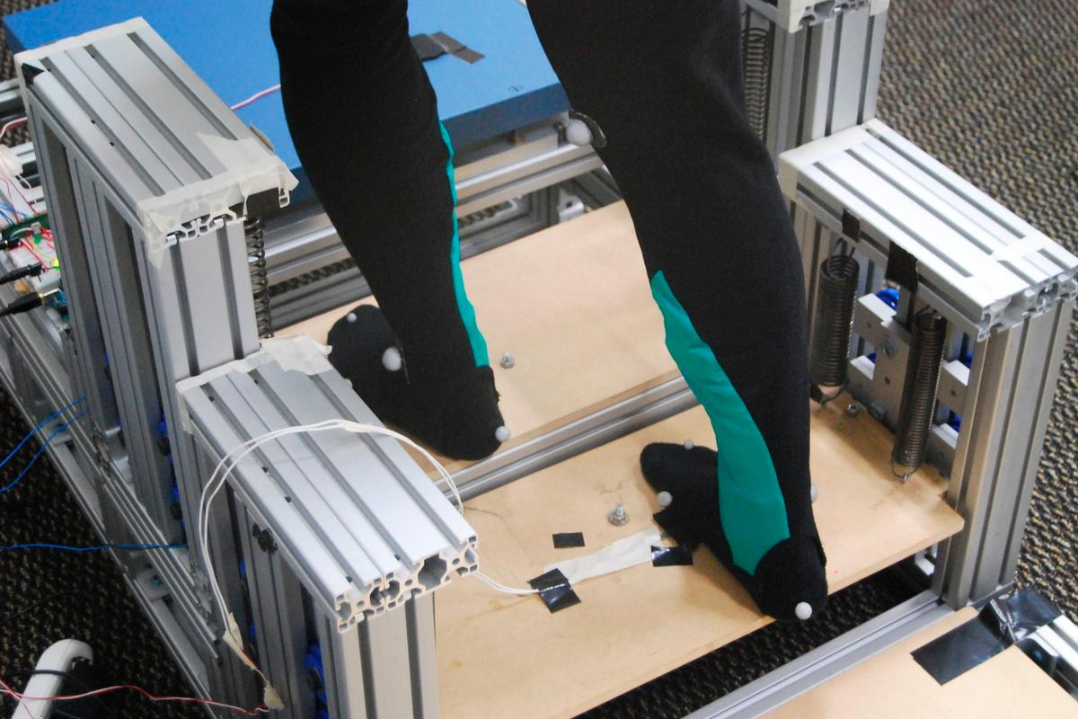 Researchers have developed a device that makes climbing stairs easier, by storing energy from a user's descent and giving it backto help people on the way up