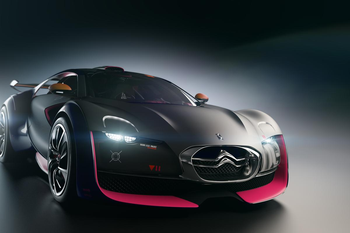 The Citroen electric small car concept - the Survolt - fits the supermini class with a look of a larger supercar