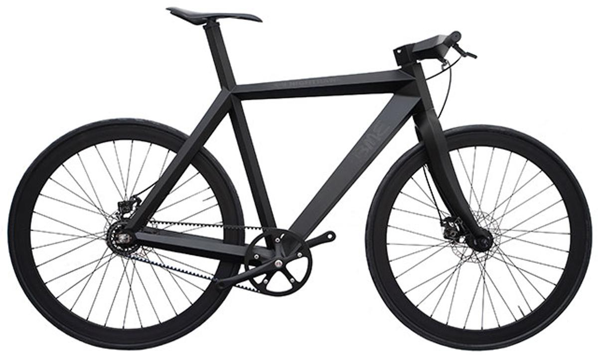 The X-9 Nighthawk is a prototype bicycle with a frame made from aramid/carbon fiber sandwich panels