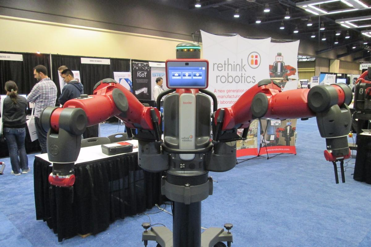 Baxter was among the many advanced robotic systems on display at ICRA 2015