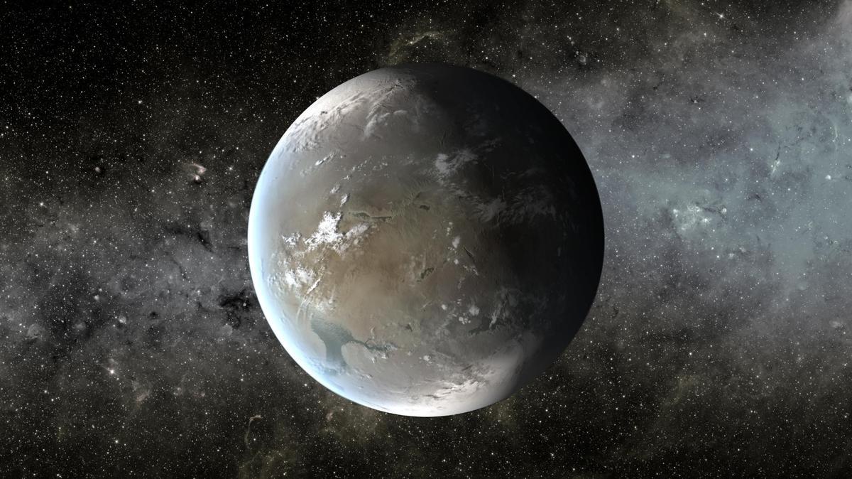 An artist's rendition of Kepler-62f