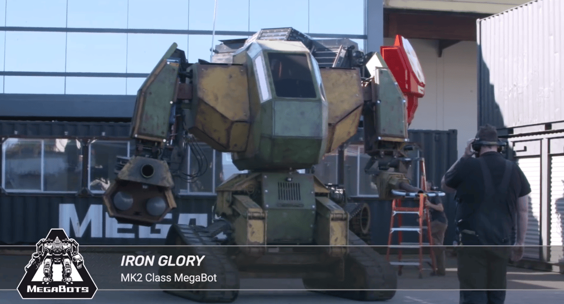 The smaller Iron Glory robot