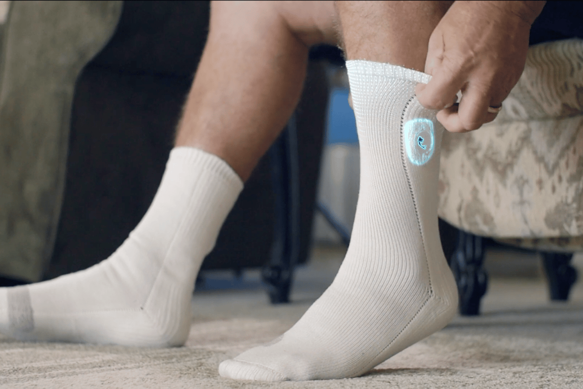 Siren Diabetic Socks monitor the temperature of the wearer's feet, checking for the heat associated with inflammation