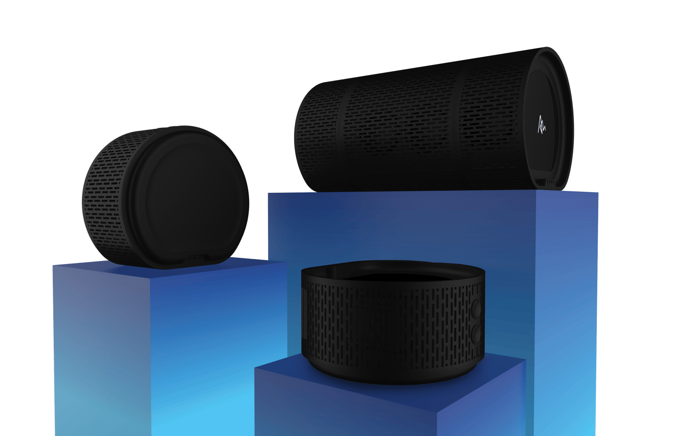 The AirBase and four AirConnect speakers can be used as one 24-W Bluetooth speaker, or independently for surround sound or multi-room setups