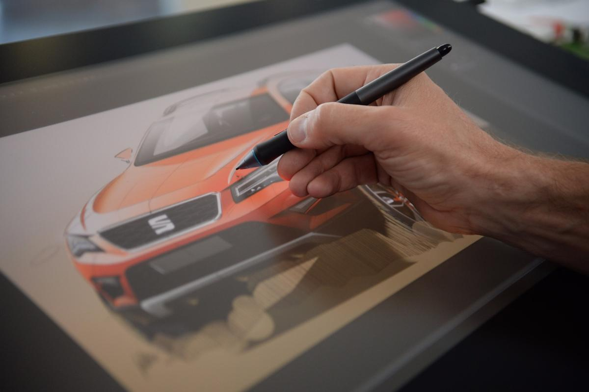 When the final sketches are approved, they are recreated digitally
