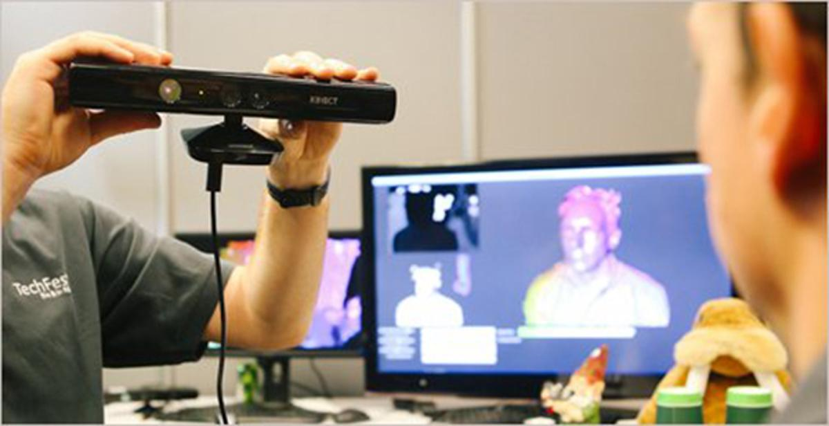 Kinect Fusion allows details 3D models to be generated using the Kinect for Windows sensor