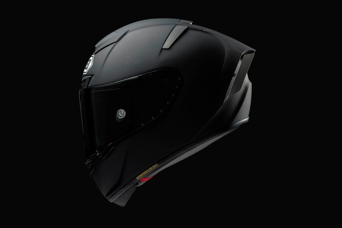 The Shoei Spirit X III is the flagship helmet in the company's racer lineup