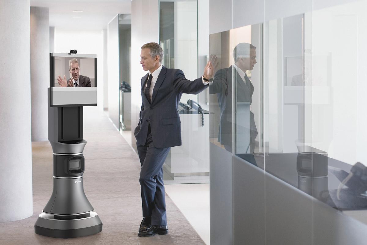 The iRobot Ava 500 in an informal conversation