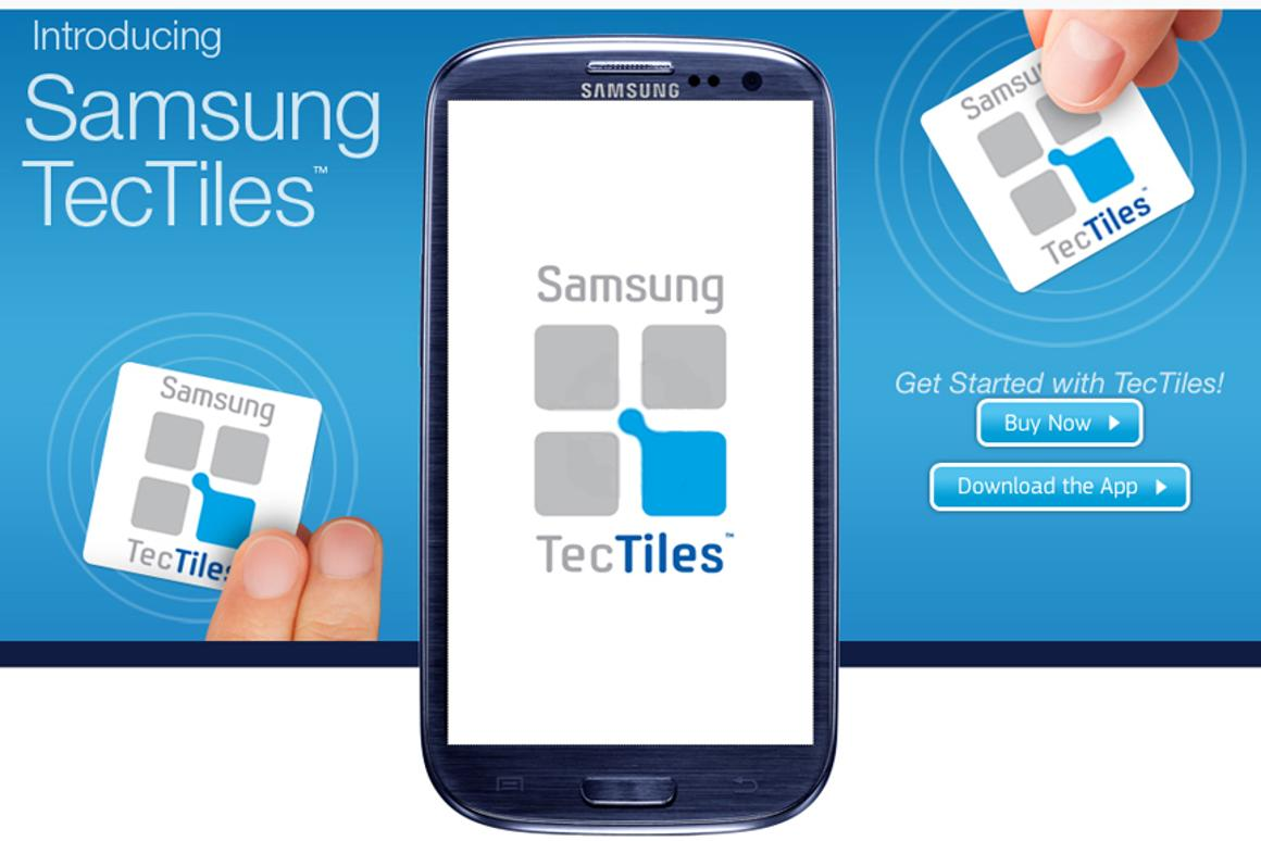 Samsung's TecTiles are programmable NFC stickers that can be used to automate various smartphone functions