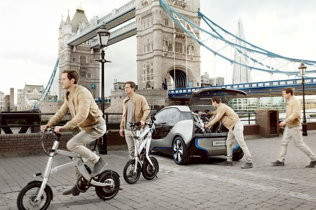 BMW has unveiled a new pedal-electric bike concept named i Pedelec, ahead of the grand opening of its first i Store in London