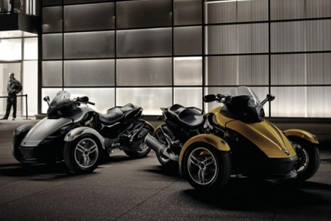 The 3-wheeled Can-Am Spyder roadster