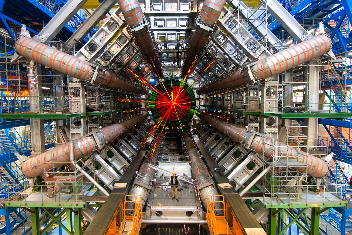 The chi b is the first new particle to be observed at the 17-mile long Large Hadron Collider particle accelerator
