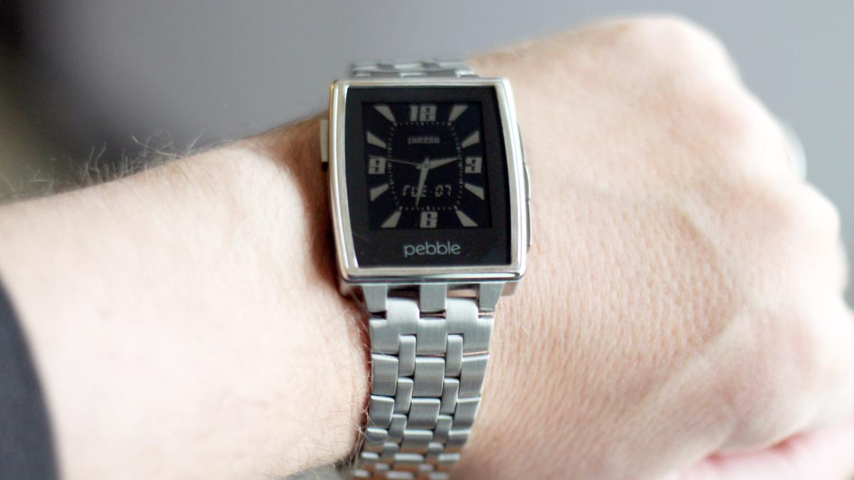 The Brushed Stainless variant of Pebble Steel