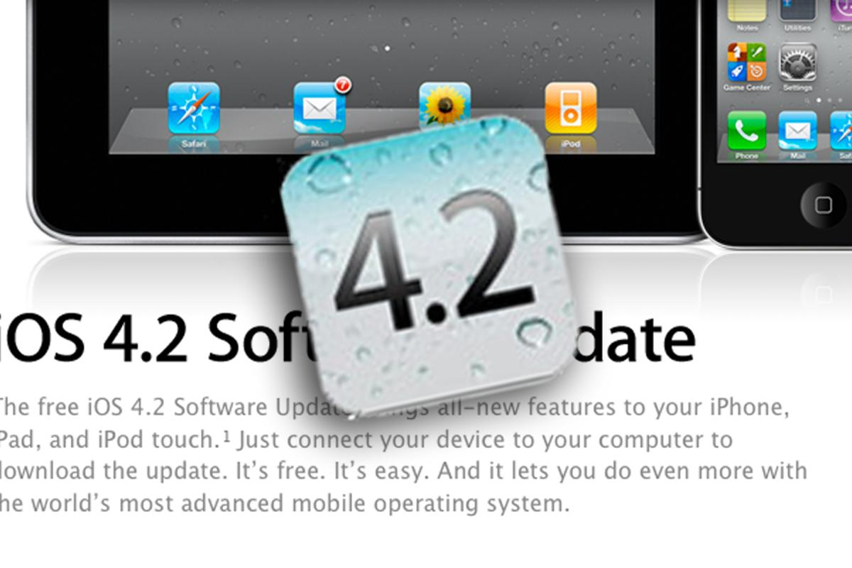 Apple has released iOS 4.2 for its mobile devices