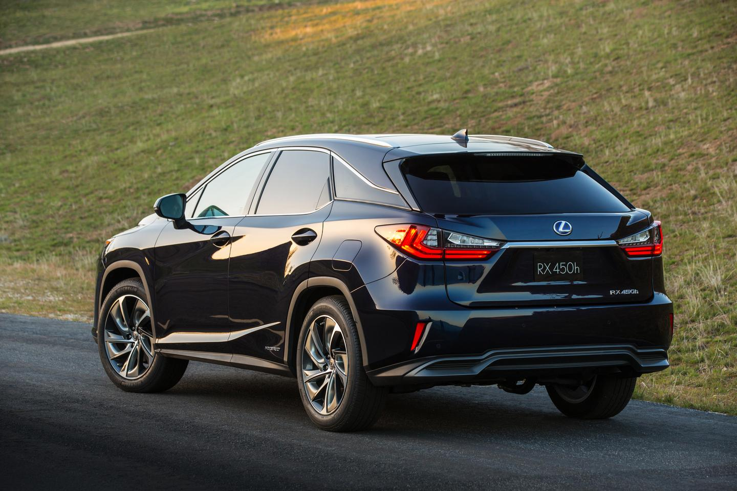Lexus has styled the RX's rear lights to wrap around