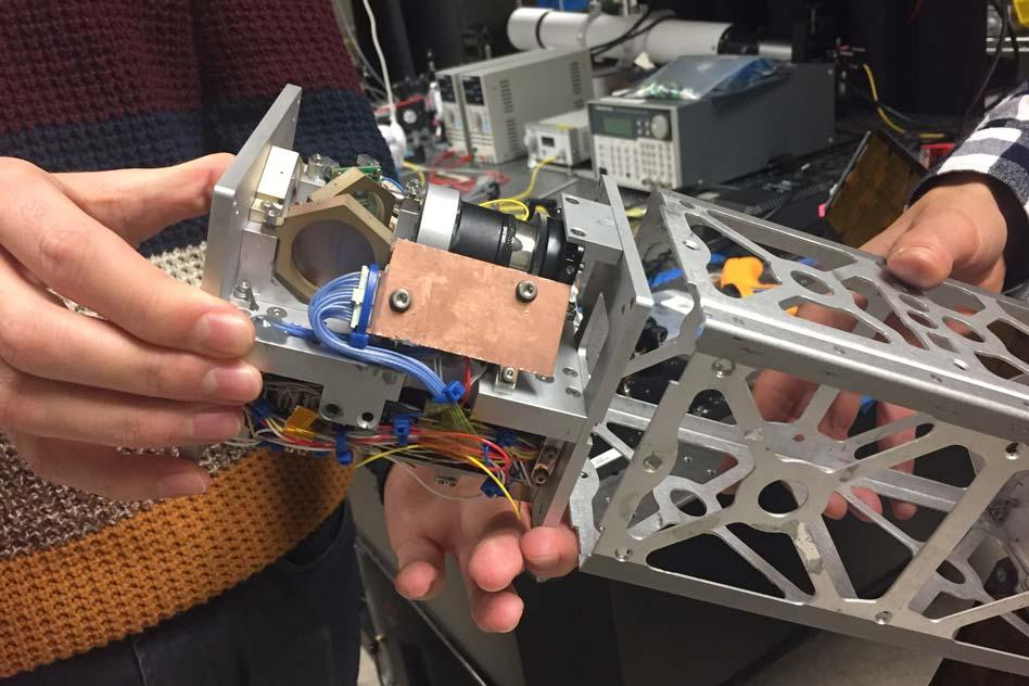 A new laser-pointing platform developed at MIT may help launch CubeSats into the high-rate data game