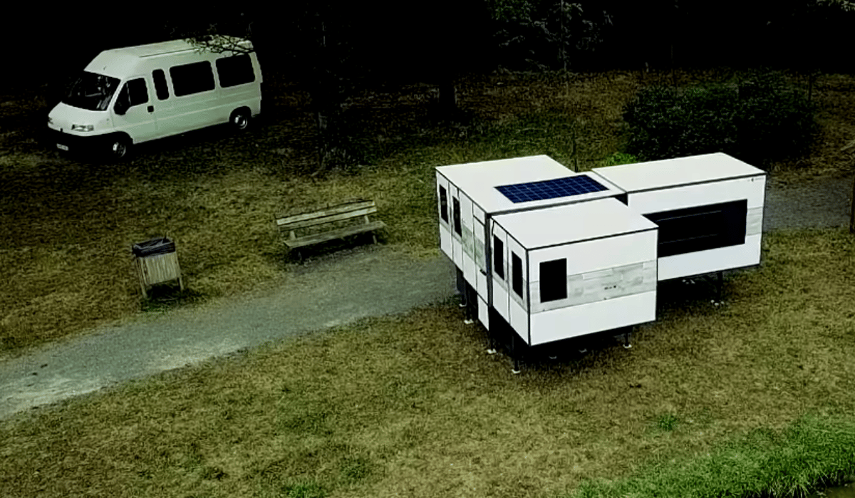 Setting the ioCamper up as as freestanding shelter frees the van to do other things during the day, no need to pack up or carry cluttered camping equipment around