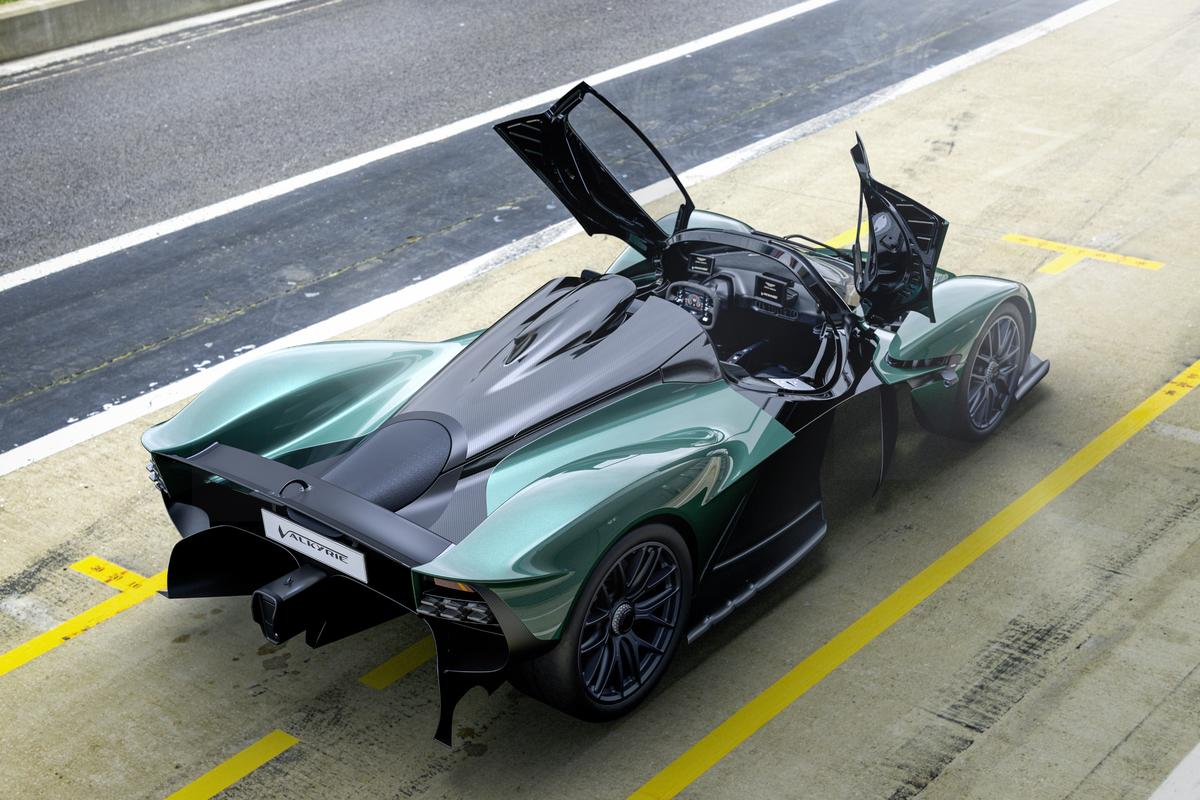 Like the original coupe model, the open-top Valkyrie Spider was designed in partnership with Red Bull Racing