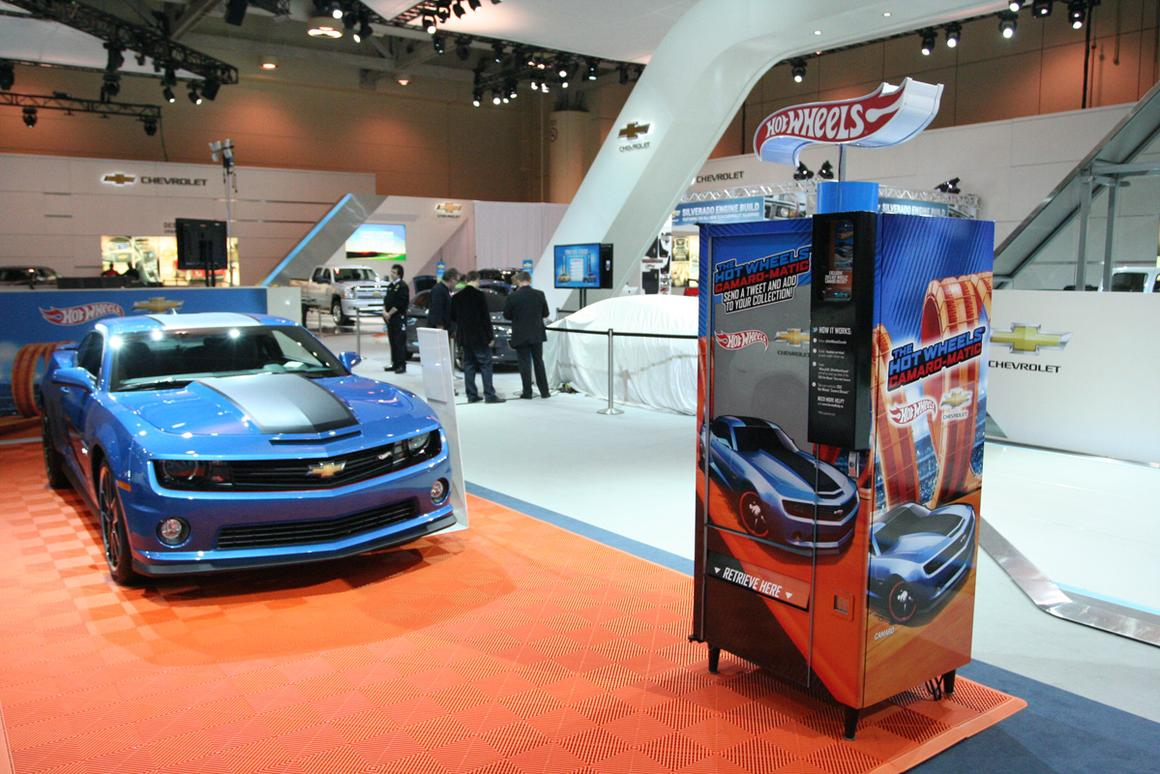 The Camaro-matic Twitter-activated vending machine at the Canadian International AutoShow