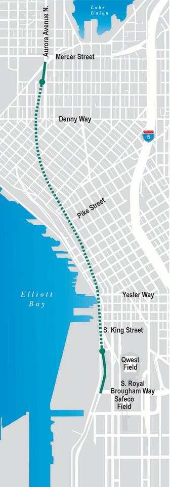 Map of the SR 99 tunnel (Image: WSDOT)