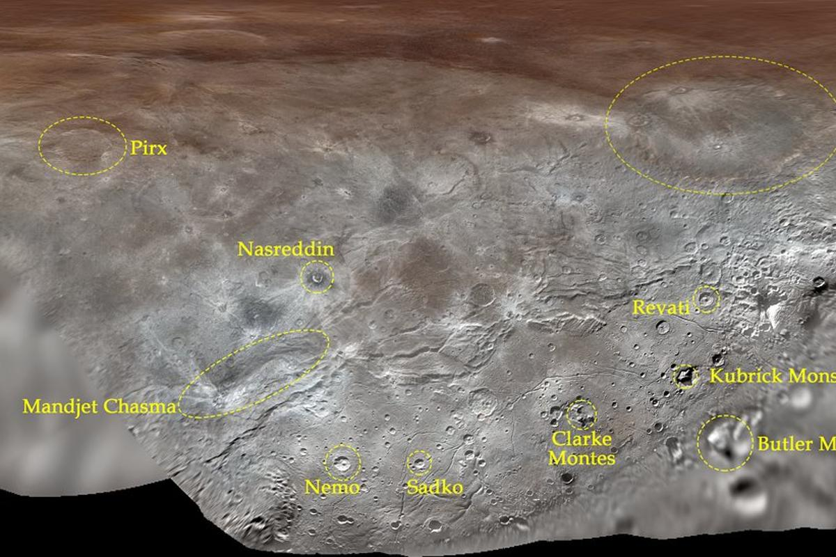 The names of features on Charon were taken from fictional and real explorers and visionaries