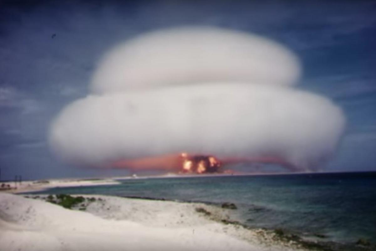The footage consists of reels of top secret film of above ground nuclear tests that were neglected for decades