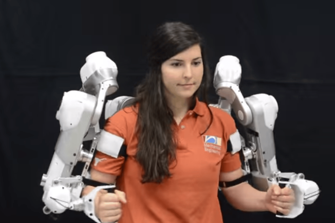 Harmony is a robotic exoskeleton designed for the upper body