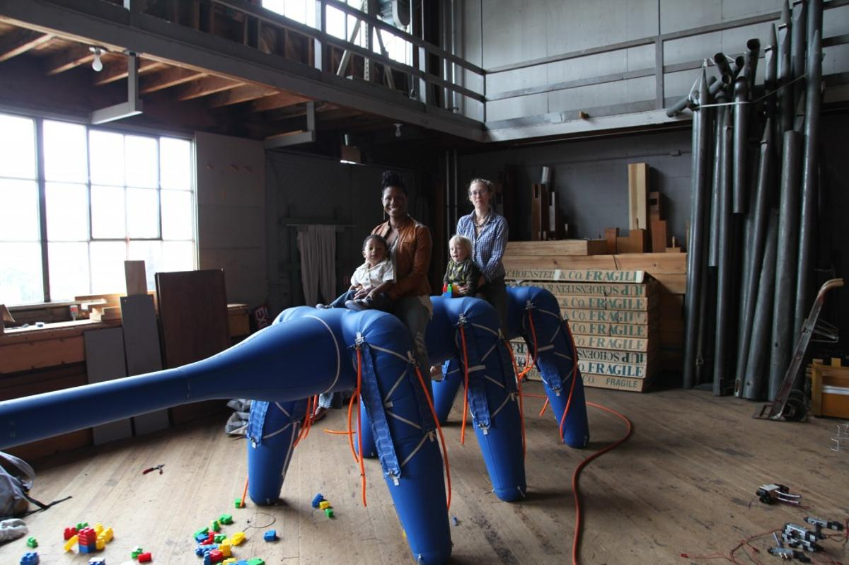 """Ant-Roach is a six-legged """"pneubot,"""" designed to showcase the capabilities of inflatable robots"""