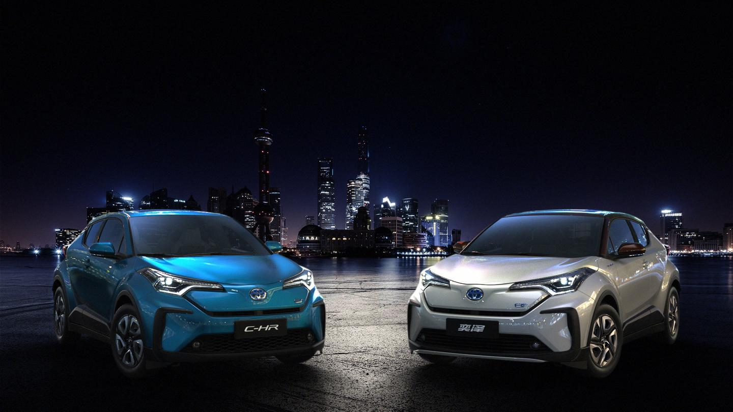 The debut of the battery electric C-HR and IZOA vehicles marks the beginning of Toyota's plans for fully electric vehicles in China and globally
