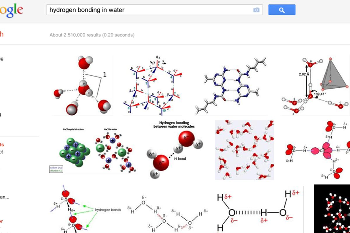 The Google PageRank algorithm has been used to determine bonds between molecules