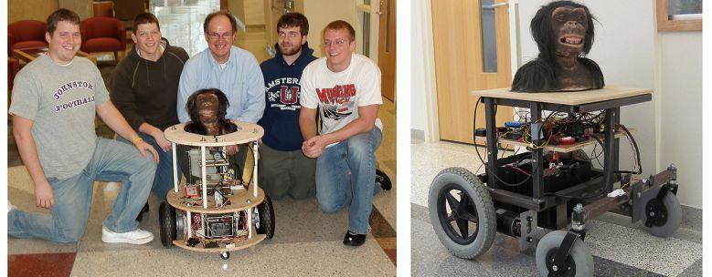 Two prototypes of the RoboBonobo robot
