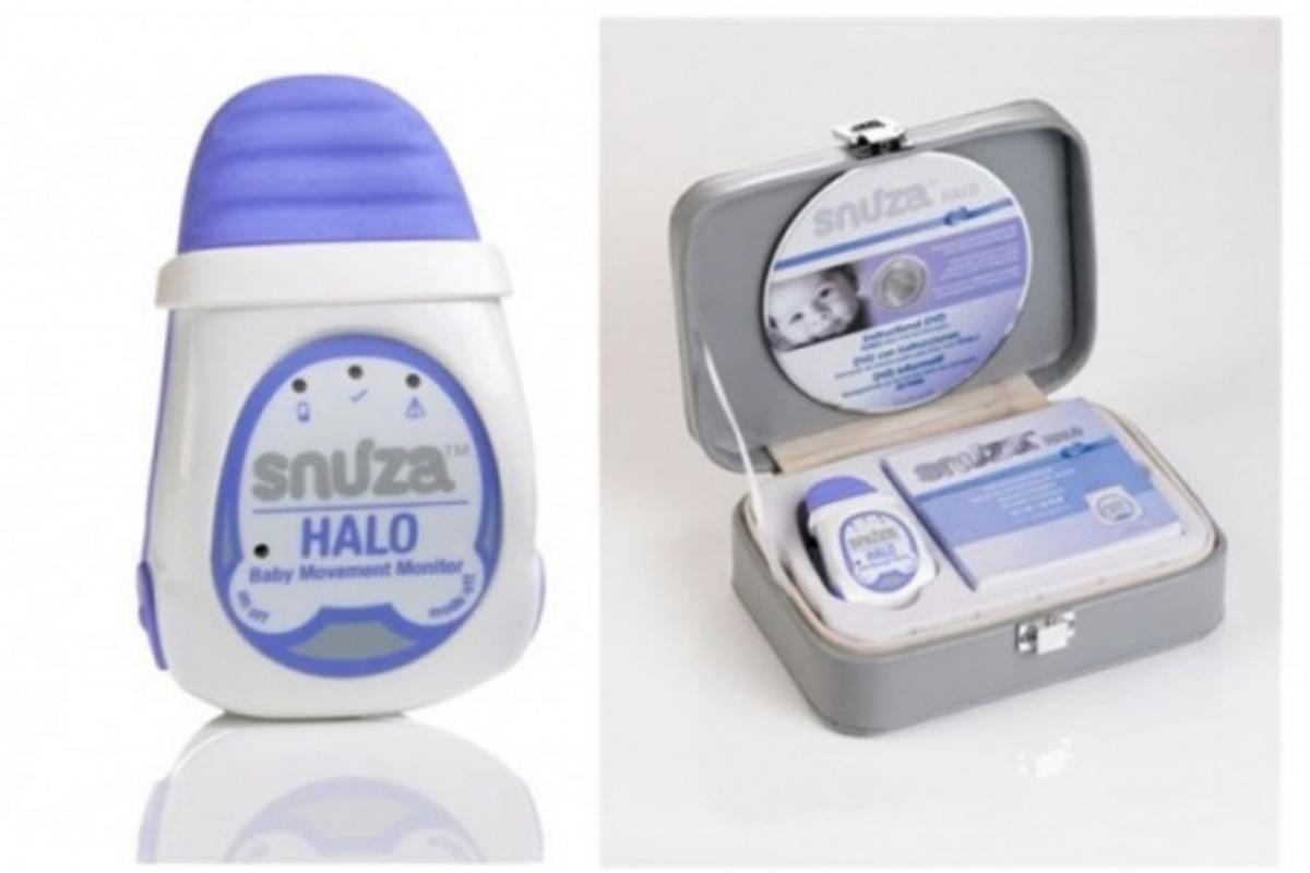 Snuza movement monitor attaches to baby's diaper