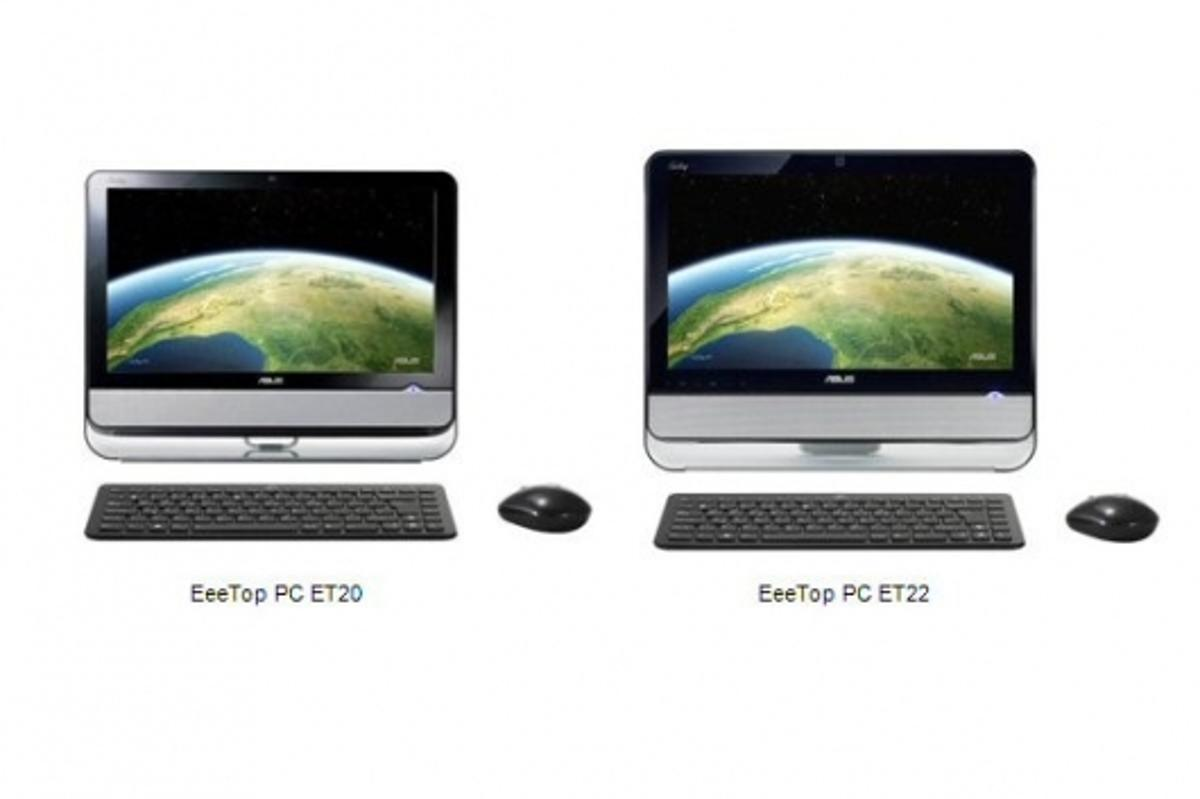 The new ET20 and ET22 series of EeeTop all-in-one PC's from ASUS