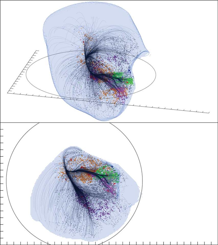 The outer surface of the Laniakea Supercluster shows the region dominated by Laniakea's gravity (Image: CEA/Saclay, France)
