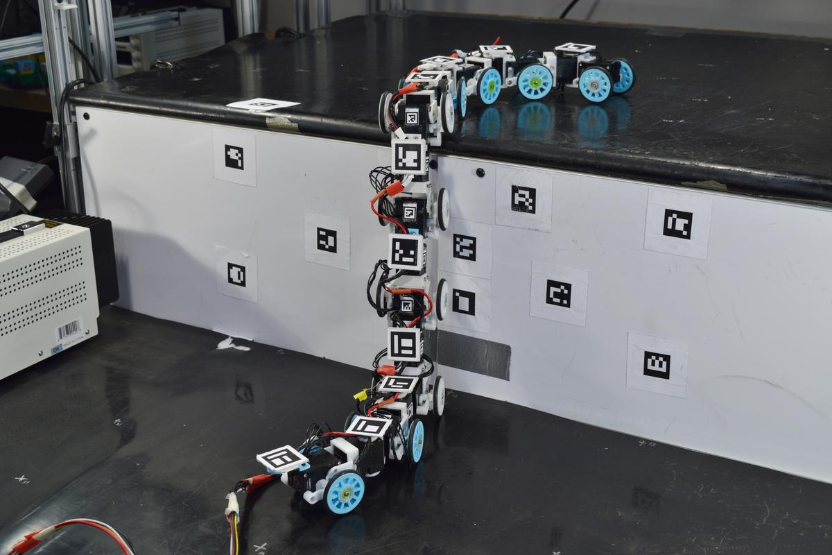 "The snake-bot is able to pretty much nail climbing steps ""as high as 38 percent of its body length"""