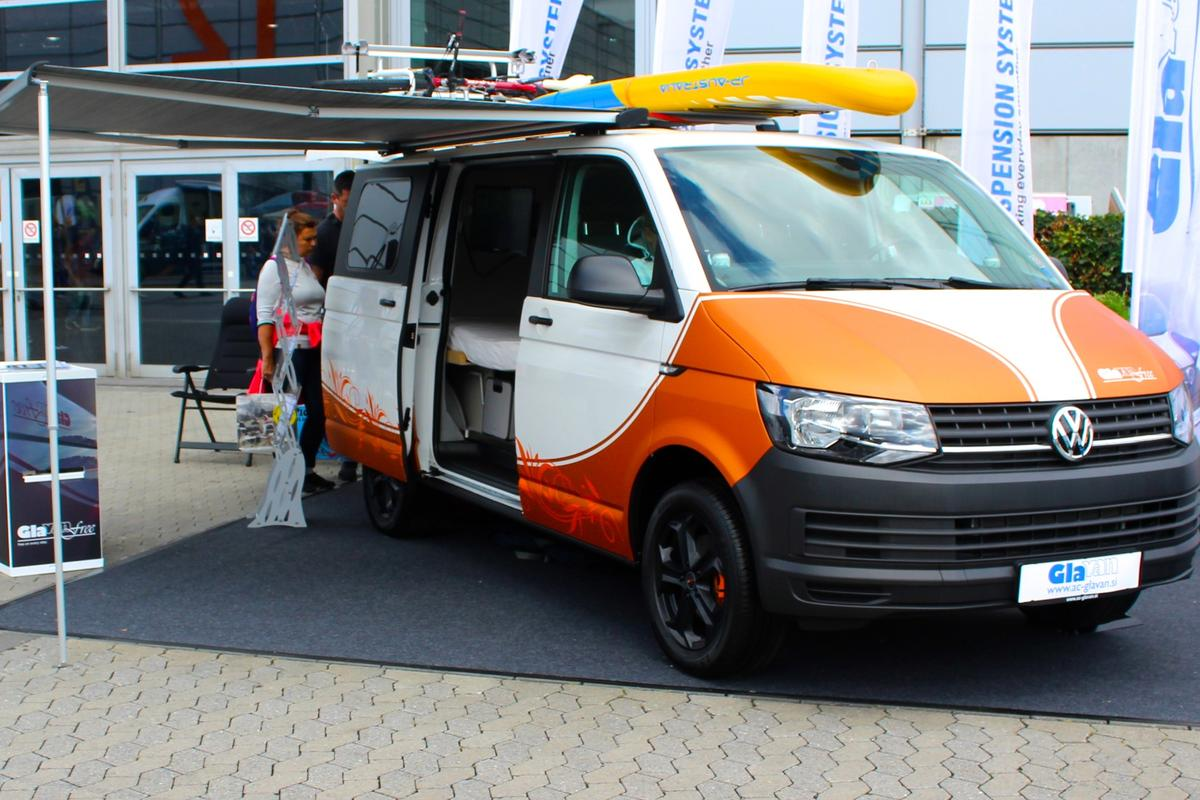 Glavan shows the Free camper van at the 2018 Düsseldorf Caravan Salon