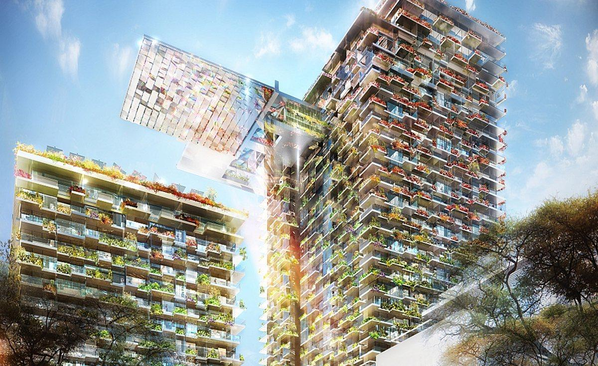 One Central Park in Sydney has been named the overall winner of the 2014 LEAF Awards