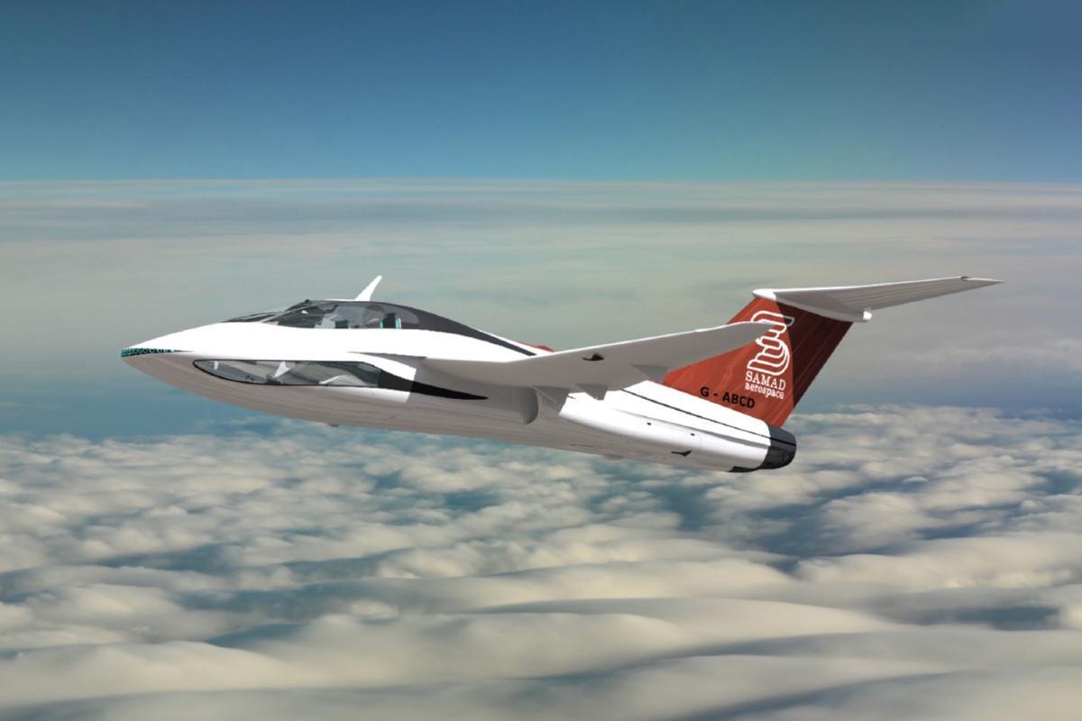 British startup Samad Aerospace is planning a hybrid VTOL business jet running on biodiesel or aviation fuel