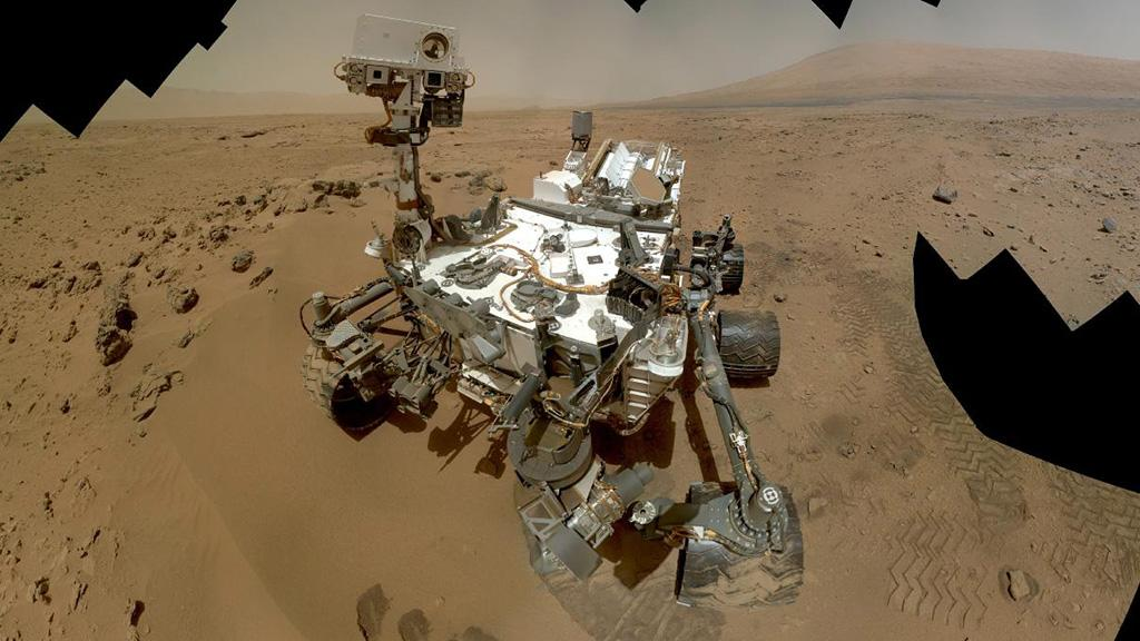 A Curiosity self portrait combining dozens of high res images captured by the Mars Hand Lens Imager (MAHLI) (Photo: NASA/JPL-Caltech/MSSS)